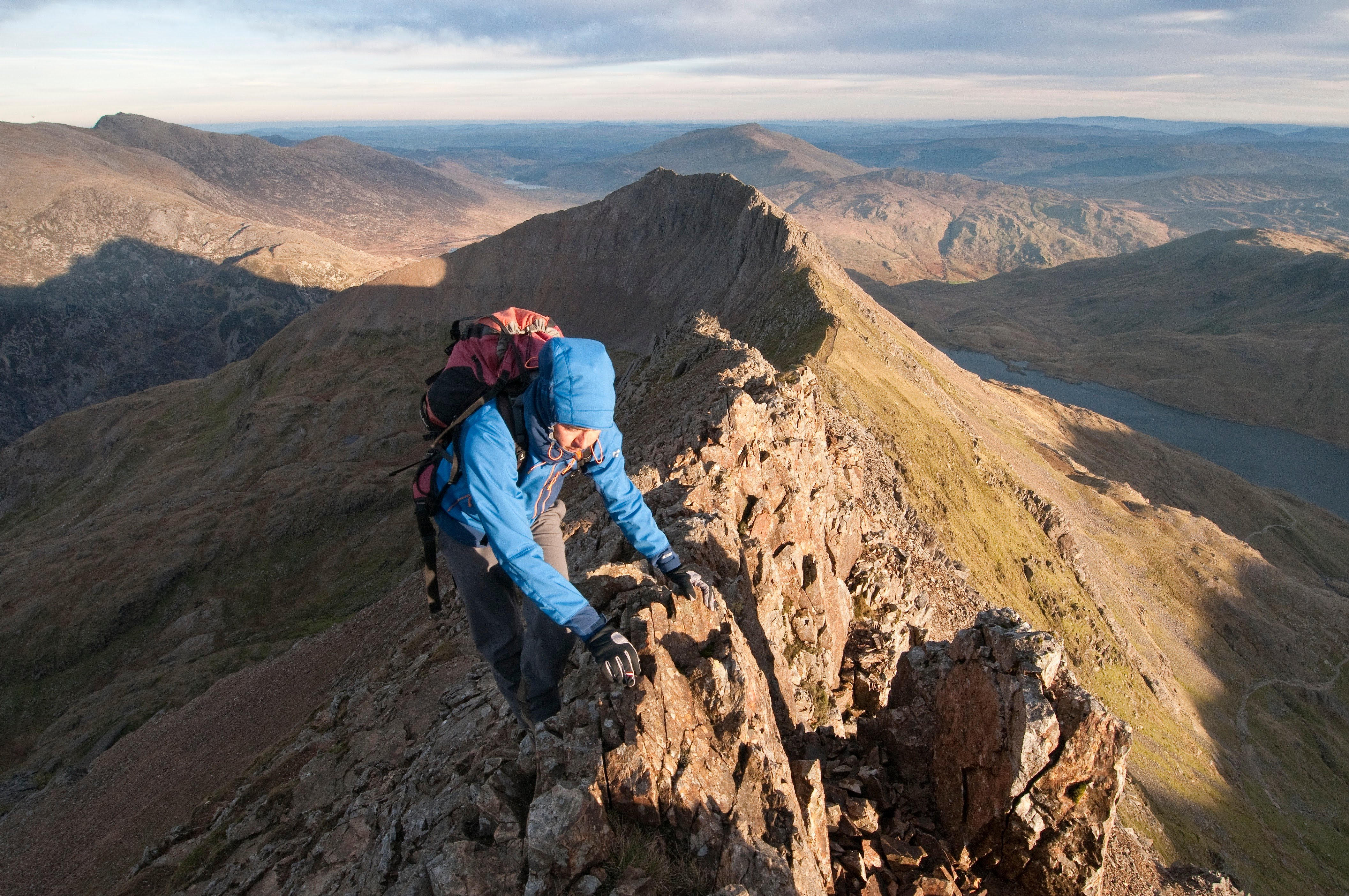 Scrambling on Crib y Ddysgl, Snowdon